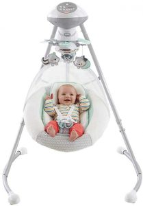 Fisher price moonlight meadow cradle n swing